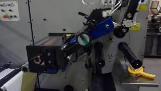 Daco PLD350M  Rotary Die Cutter / Semi Automatic Turret Rewinder