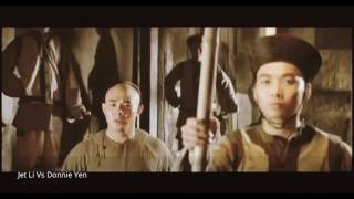 Once upon a time in china fight scene Jet Li Vs Donnie Yen