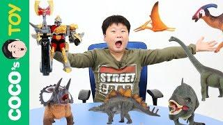#40 공룡과 공룡로봇이 싸우면 과연 누가 이길까?! 공룡이야기, 공룡이름 맞추기, 컬렉타ㅣ꼬꼬스토이