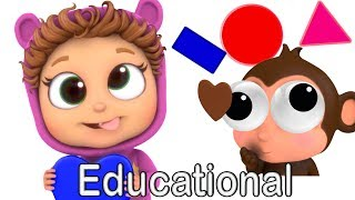 Shapes and Colors | Learn Shapes | Learn Colors | Nursery Rhymes | Kids