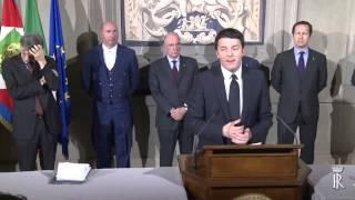 Il Presidente del Consiglio incaricato comunica la lista dei Ministri del nuovo Governo