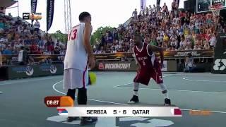 المباراة النهائية (كاملة)  من بطولة العالم لكرة السلة 3×3 - 2014 - قطر × صربيا