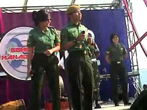 Tentara iseng nyanyi di Inbox SCTV