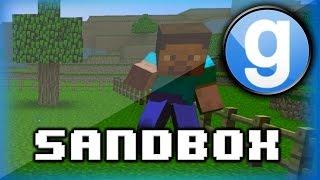 Garry's Mod Sandbox Funny Moments Minecraft Edition! - Tutorials, Ender Dragon, Funny Skits!