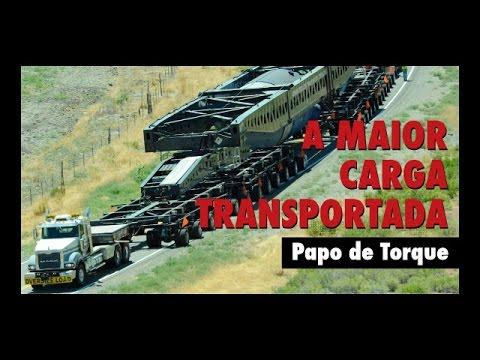 A maior carga transportada nos EUA Gerador de energia com 363 toneladas