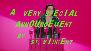 St. Vincent - A Very Special Announcement