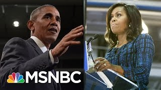 President And Michelle Obama Rally Hillary Clinton Supporters, Take On Donald Trump   MSNBC