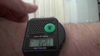 Square 90s Style Digital Talking Atomic Watch