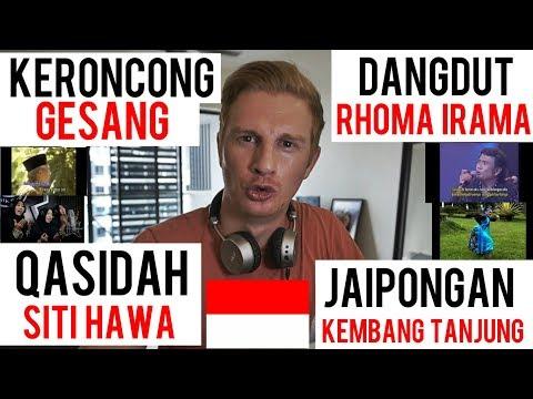 (REACTION!) INDONESIAN TRADITIONAL MUSIC  KERONCONG - DANGDUT - QASIDAH - JAIPONGAN