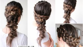 How to Five (5)Strand Dutch Braid | Side Boho Hairstyle on yourself