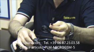 Microspia GSM con microfono esterno ultra sensibile
