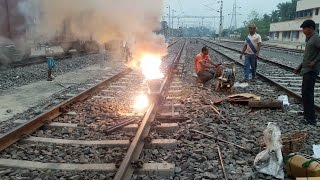 Thermite/Welding of railway track...