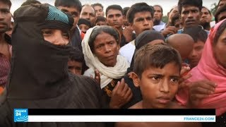 لاجئو الروهينغا بانتظار المساعدات في مخيمات ببنغلادش