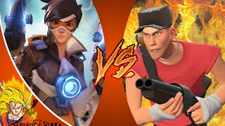 Tracer VS Scout _ DEATH BATTLE! (Overwatch VS Team Fortress 2) Reaction REACTION!!!