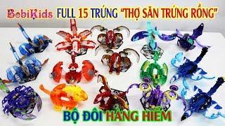 Full 15 Quả Trứng Thợ Săn Trứng Rồng (Bộ Đôi Hàng Hiếm, Độc Lạ Tại Việt Nam) #BobiKidsChannel