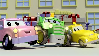 The SURPRISE BIRTHDAY with the Baby Cars in Car City ! Cartoon for kids