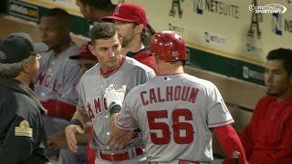 LAA@OAK: Giavotella, Calhoun exchange words in 7th