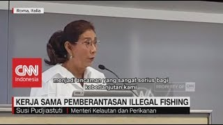 Menteri Susi Kampanyekan Pemberantasan Illegal Fishing di Markas FAO Roma