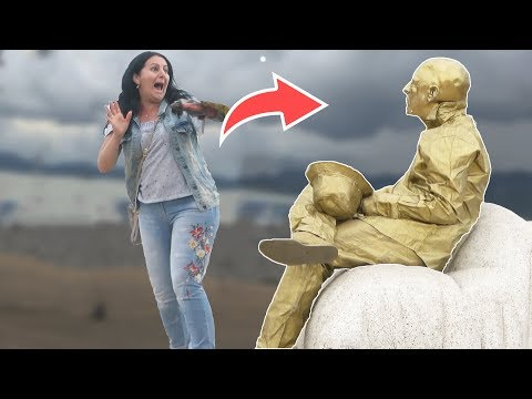 HUMAN STATUE PRANK 2019 3 AWESOME REACTIONS