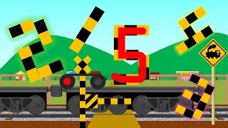 Learn Numbers for Kids | 数字を覚える踏切アニメ | 貨物列車