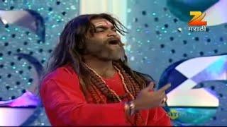 Kushal Badrike As Baba Chipli Comedy Scene | Zee Gaurav Awards 2012 | Zee Marathi