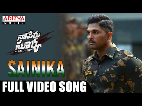 Xxx Mp4 Sainika Full Video Song Naa Peru Surya Naa Illu India Songs Allu Arjun Anu Emmanuel 3gp Sex