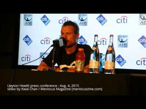Lleyton Hewitt press conference - 2015 Citi Open, Aug. 4 - Meniscus Magazine