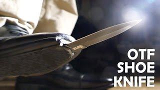 Homemade Spring Loaded SHOE KNIFE! - Spy OTF Knife (Joker Boot Knife / Kingsman IRL)