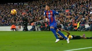 Neymar impossible sombrero skill vs Malaga (2016/2017) - 1080i