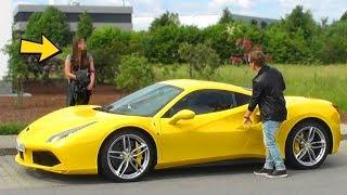 FERRARI GOLD DIGGER PRANK 2017 - Rich Kid (Ferrari 488 GTB)