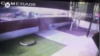 Rocket fired from Gaza explodes in Israeli city of Sderot, October 5, 2016.