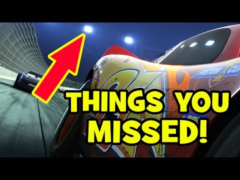 CARS 3 TRAILER Easter Eggs Pixar Theory & Things You Missed