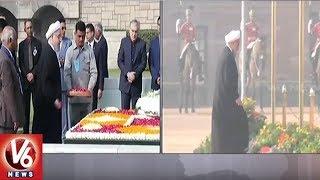 PM Modi, President Kovind Welcome Iranian President Hassan Rouhani To New Delhi   V6 News