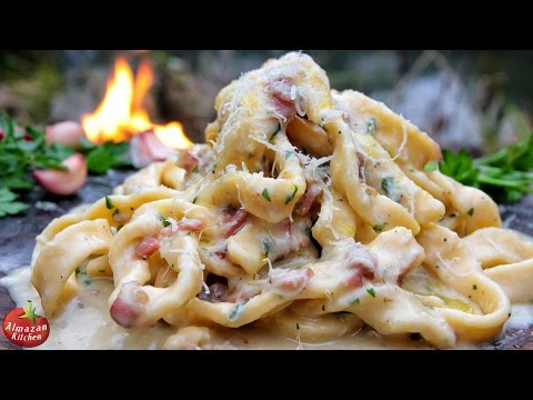 Best Carbonara Ever Cooking in the Forest