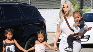 Kim Kardashian And Family Get Out For Some Ice Skating