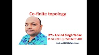 Co-finite topology, topology