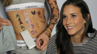COVERING MY BODY IN TEMPORARY TATTOOS