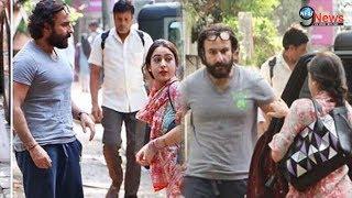Ex-wife अमृता सिंह की बेटी सारा पर भड़क उठे पिता सैफ, बीच सड़क उतारा गुस्सा  Saif gets angry on Sara