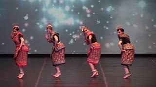 Sambalpuri Indian folk dance by Russian girls in Macedonia