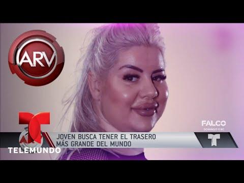 Xxx Mp4 Modelo Quiere El Trasero Ms Grande Del Mundo Al Rojo Vivo Telemundo 3gp Sex