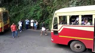 KSRTC amazing drive and block in thamarassery churam