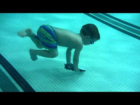 3yo William Diving down to get his Toypedo torpedo