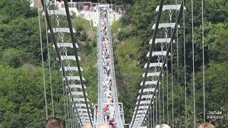 Harz Hängebrücke Rappbodetalsperre Weltrekord Megazipline Harzdrenalin TITAN RT Pendelsprung