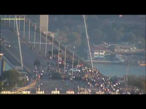 Darbe girişimi İstanbul Büyükşehir Belediyesi kameralarına yansıdı