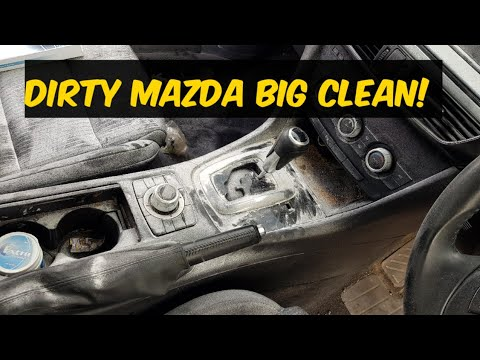 Cleaning the dirtiest mazda car ever