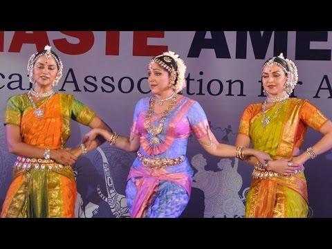 Hema Malini, Esha & Ahana Deol Perform at Namaste America