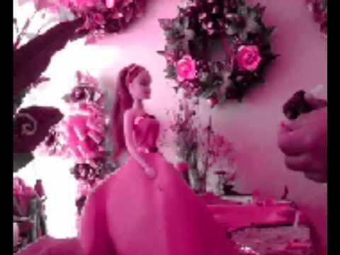 como hacer un centro de mesa con muñeca tipo barbie