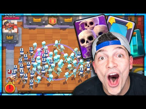 SKARMY + MIRROR + CLONE! Nick & Molt Clash Royale 2v2!