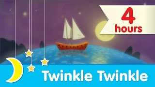💤 4 HOURS 💤  | Twinkle Twinkle Little Star Piano Lullaby to Help Babies Sleep | Super Simple Songs