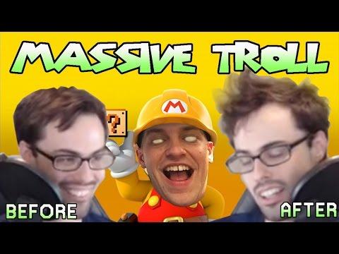 Mario Maker - We Tried So Hard, And Got So Far (Monstrous Troll Level) | Carl vs Poo #3